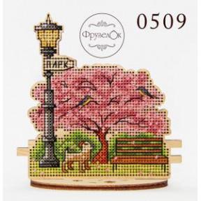 """Набор для вышивания крестиком на деревянной основе ФрузелОк  """"Парк"""" 0509"""