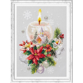 Набор для вышивки крестом Чудесная игла Рождественская свеча 100-231