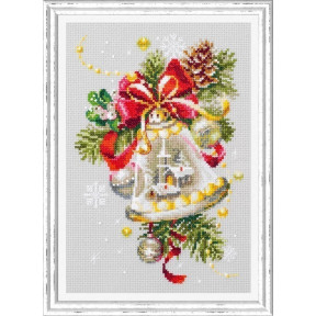 Набор для вышивки крестом Чудесная игла Рождественский колокольчик 100-232