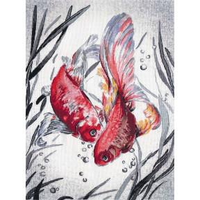 Набор для вышивки крестом Овен Золотые рыбки РК-018о