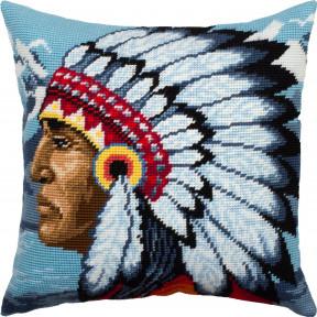 Набор для вышивки подушки Чарівниця Индеец V-298 фото