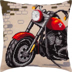 Набор для вышивки подушки Чарівниця Мотоцикл V-304 фото