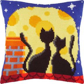 Набор для вышивки подушки Чарівниця Коты на крыше Z-79 фото
