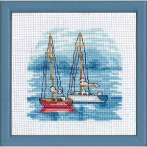 Набор для вышивания Permin (Red boats) 13-8118
