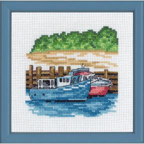 Набор для вышивания Permin (Blue boats) 13-8117