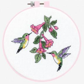 Набор для вышивания крестом Dimensions Hummingbird Duo 72407