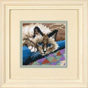 Набор для вышивания гобеленом Dimensions Cuddly Cat 07228