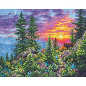 Набор для вышивания Dimensions Sunset Mountain Trail 70-35383