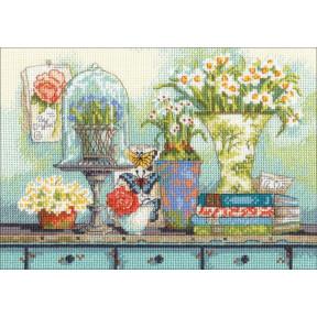 Набор для вышивания Dimensions Garden collectibles 70-65194