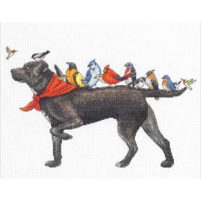 Набор для вышивания Dimensions Bird dog 70-35385