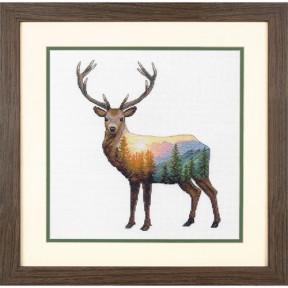 Набор для вышивания крестом Dimensions Deer Scene 70-35387