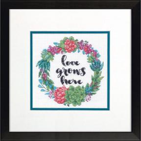 Набор для вышивания крестом Dimensions Succulent Wreath  70-65196