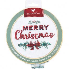 Набор для вышивания крестом Dimensions Merry Christmas 72-76043
