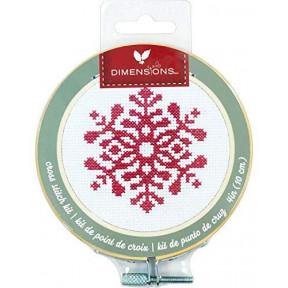 Набор для вышивания крестом Dimensions Snowflake 72-76049