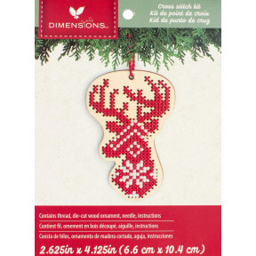 Набор для вышивания крестом Dimensions Deer Wood Ornament  72-76057