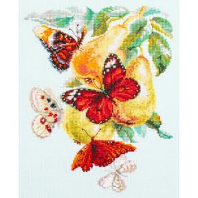"""Набор для вышивки крестом Чудесная игла """"Бабочки на груше"""" 130-051"""