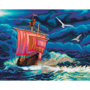 Набор для вышивки крестом Nitex Сквозь бурю  0281
