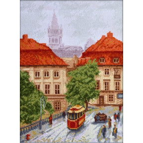 "Набор для вышивки крестом Палитра ""Старый трамвай""  08.031"