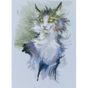 """Набор для вышивки крестом RTO """"Не стоит гладить кошку против шерсти"""" M803"""