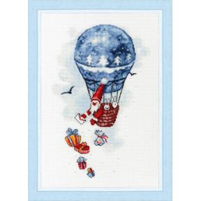 """Набор для вышивки крестом Золотое Руно """"Воздушный шар"""" М-010"""