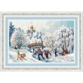 """Набор для вышивки  крестом Золотое Руно """"Рождественские каникулы"""" ЧМ-071"""