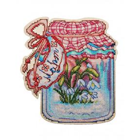 Набор для вышивки крестом Alisena Баночка – Март 5557а фото