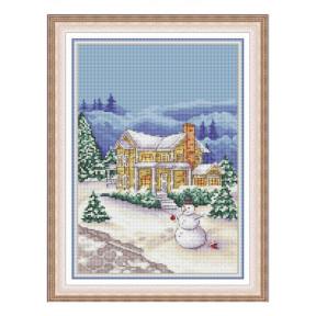 Набор для вышивки крестом Dantel Зимний вечер 037 фото