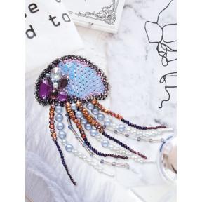 """Набор для вышивки бисером украшения на натуральном художественном холсте Абрис Арт """"Медуза"""" AD-071"""