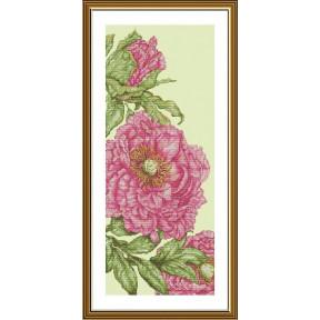 """Набор для вышивания крестом Нова Слобода """"Розовые маки"""" СВ-6237"""