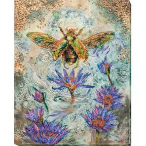 Набор для вышивки бисером на холсте Абрис Арт «Золотой жук» АВ-724