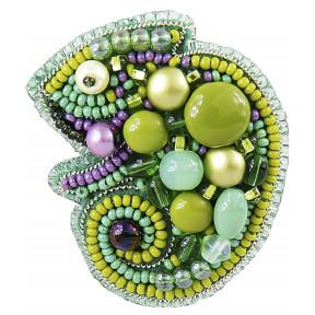 """Набор для изготовления броши Crystal Art """"Хамелеон"""" БП-266"""