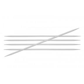 Спицы носочные 5.00 мм - 20 см Basix Aluminum KnitPro 45117