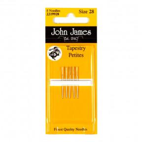 Набор коротких гобеленовых игл John James (Англия) Tapestry Petite №28 (5шт) JJ19928