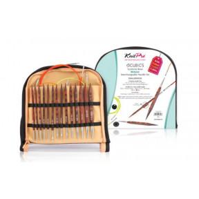 Набор деревянных съемных спиц 11,5 см Deluxe Cubics Symfonie-Rose KnitPro 25613