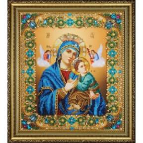 Набор для вышивания бисером Картины Бисером Икона Божьей Матери Неустанной Помощи  Р-417