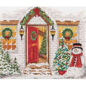 """Набор для вышивания Anchor """"Рождественский прием (Christmas Welcome)"""" PCE968"""