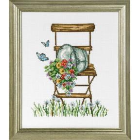 Набор для вышивания Permin (Chair with flowers) 92-8104