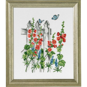 Набор для вышивания Permin (Chair with flowers) 92-8103