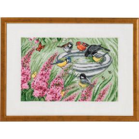 Набор для вышивания Permin (Bird bath Garden) 70-9396