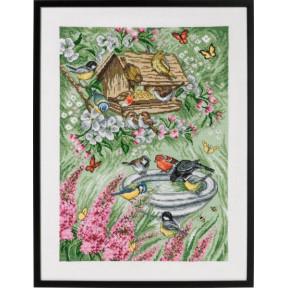 Набор для вышивания Permin (Birds in Garden) 70-9394