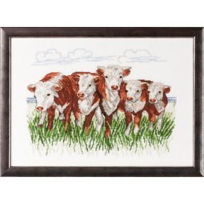 Набор для вышивания Permin (Hereford cows) 70-7432