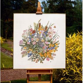 Набор для вышивания Permin (Waterflowers Linen in a Box) 70-7300