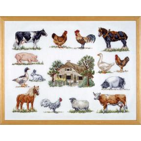 Набор для вышивания Permin (Animals at the farm) 70-6420