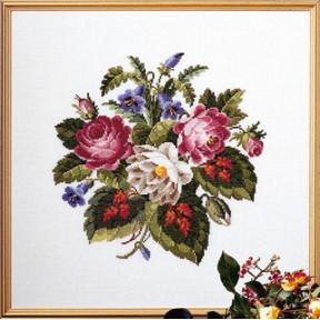 Набор для вышивания Permin Flowers 70-4144