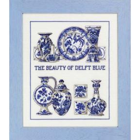 Набор для вышивания Permin Delft blue 70-3441
