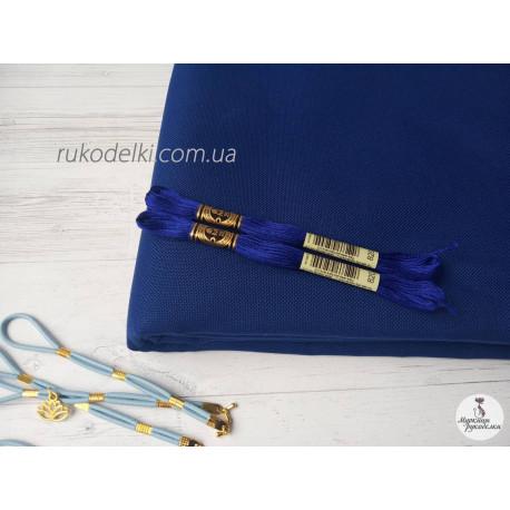 Канва синяя Ubelhor Моника (50% хлопок, 50% вискоза) 28 ct.