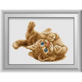 Набор для рисования камнями алмазная живопись Dream Art Комочек счастья (квадратные, полная) 30389D