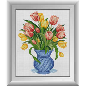Набор для рисования камнями алмазная живопись Dream Art Охапка тюльпанов (квадратные, полная) 30715D