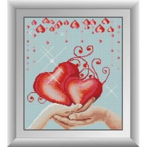 Набор для рисования камнями алмазная живопись Dream Art Любовь (квадратные, полная) 30721D