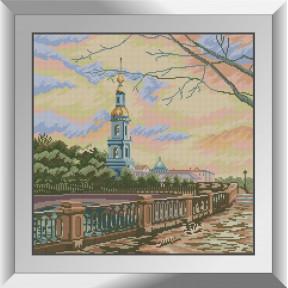 Набор для рисования камнями алмазная живопись Dream Art Николаевский собор (квадратные, полная) 31231D